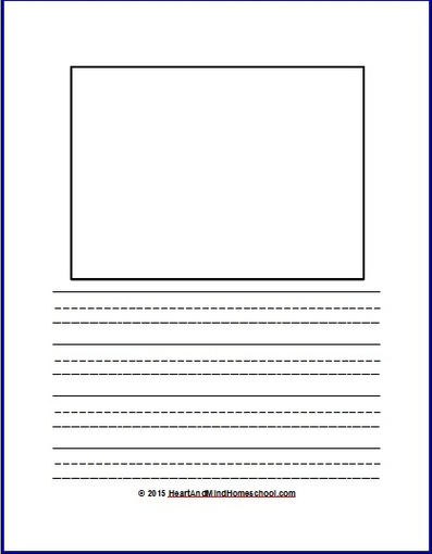 write and draw paper Writing paper with room for drawings - handwriting writing paper (with room for drawings) top half of page is blank for students to draw own primary-lined paper with.